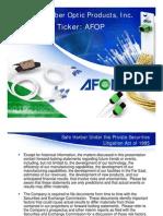 AFOP IR Presentation May 2011-Ff