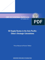 Oil Supply Routes in Asia Pacific