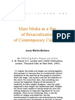 Mass Media as a Site of Resacralization of Contemporary Cultures