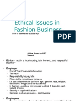 Ethical Issues in Fashion