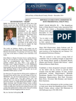 Palm Beach County GOP Newsletter - December 2011