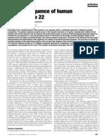 I. Dunham, N. Shimizu, B. A. Roe, S. Chissoe et al- The DNA sequence of human chromosome 22