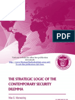 The Strategic Logic of the Contemporary Security Dilemma