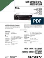 Sony+CDX-GT21W GT210 GT260 Esquema