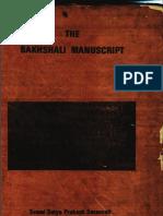 The Bakhshali Manuscript