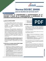 ISO 2000 Para La Gestion de Servicios de TI