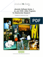 IRRI Biodiversity Software Series I. LUMP, LINK, And JOIN