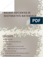 Recent Advances in Restorative Materials