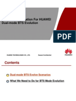 Technical Explanation for Huawei Dual-Mode BTS Evolution