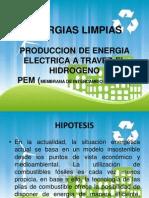 Produccion de Energia Electrica a Travez El Hidrogeno