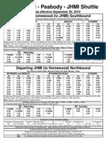 JHMI Shuttle Schedule 9-30-10
