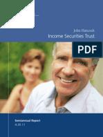 J Hancock Income Securities Trust (JHS)
