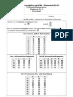 Modellsatz B2-C1 Nr. 3, HV Antwortblatt