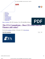 The CFA Conundrum – Does CFA with MBA in Finance add value_ - Inside IIM