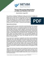 Ksenia Svetlova - The Arab Spring's Blossoming Opportunities