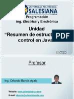 2011 1 Unidad Java Resumen Estructuras Control Prog Ing Elect