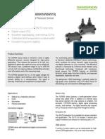 Datasheet SDP600series Differential Pressure Sensor