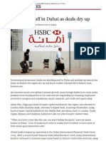 Banks Shed Staff in Dubai as Deals Dry Up - FT