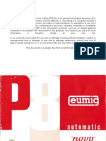 Eumig Projector P8 Automatic Novo User Manual