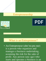 Entrepreneurship INTRO