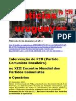 Noticias uruguayas Miércoles 14 de diciembre de 2011