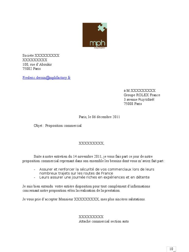 Proposition Commerciale Exemple Facture Données Personnelles