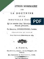 Em Swedenborg Exposition Sommaire de La Doctrine de La Nouvelle Eglise Anonyme 1797 an v de La Republique