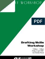 Drafting Skills Worksho