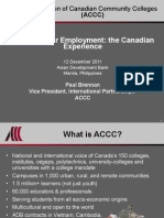 Paul Brennan - Education for Employment - The Canadian Experience