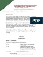 NORMAS PARA LA APLICACIÓN DEL SPOT 183-2004 sunat