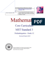 Ny Mathematics Core Curriculum