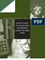 Eaton Vance Tax-Mgd Div Eq Inc Fund (ETY)