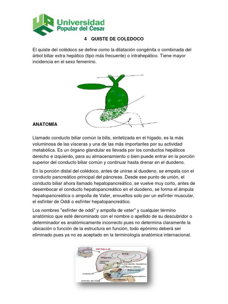 QUISTE DE COLEDOCO