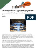 Paraibano Volta a Ter o Nome Cotado Pela Imprensa Nacional Para Presidir o Senado Federal