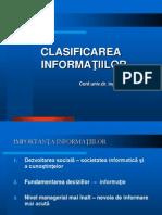 clasificarea informatiilor