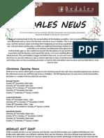 Bedales December Newsletter