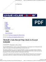 Michelle's Solo Hawaii Trip Likely to Exceed $100,000