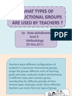 What Types of Instructional Groups