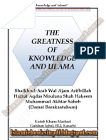 Greatness of Knowledge and Ulama