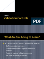 Validation Control