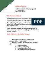 Objective of Orientation Program