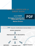 Reports Certificates Survey Status Rev.0