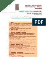 LAMPEA-Doc 2011 – numéro 41 / Vendredi 16 décembre 2011