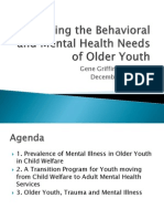 Behavioral and Mental Health Needs of Older Youth NY 120111