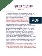 Simran of the Five Names