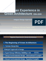 (2) Egyptian Experience in Green Architecture (1994-2008)