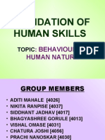 Foundation of Human Skill