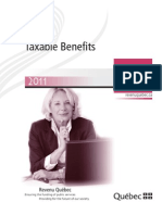 Quebec Taxable Benefits Guide
