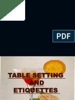 Table Ettiquettes