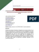 Protocolo de atención educativa en red. Proyecto ALTER